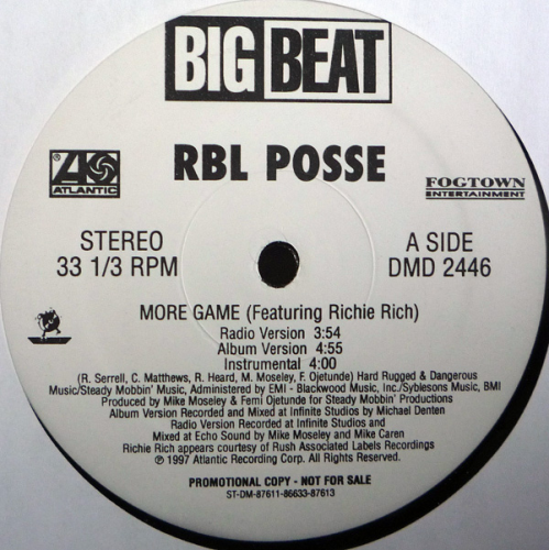 "RBL POSSE ""MORE GAME / AN EYE FOR AN EYE"" (12INCH)"