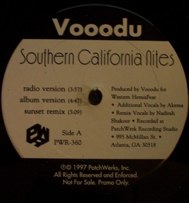 "VOOODU ""SOUTHERN CALIFORNIA NITES / DARK REGIONS"" (12INCH)"