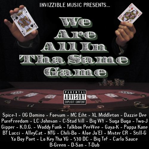 "INVIZZIBLE MUSIC PRESENTS ""WE ARE ALL IN THA SAME GAME"" (CD)"