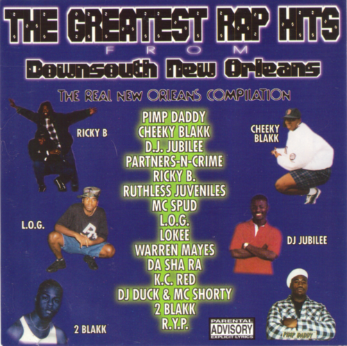 "VARIOUS ARTISTS ""THE GREATEST RAP HITS FROM DOWNSOUTH NEW ORLEANS"" (USED CD)"