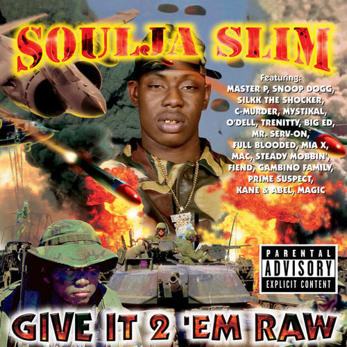 "SOULJA SLIM ""GIVE IT 2 'EM RAW"" (USED CD)"