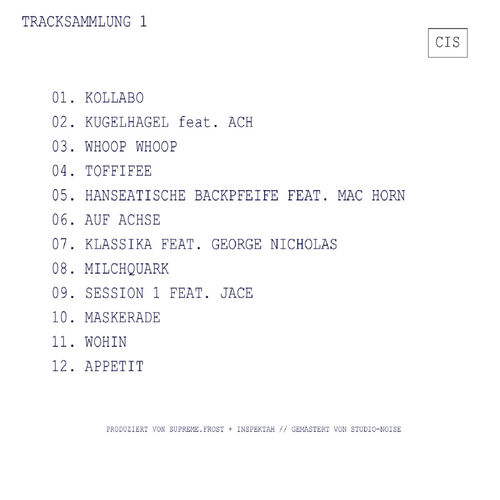 "CHALEE & INSPEKTAH (CIS) ""TRACKSAMMLUNG 1"" (FREE DOWNLOAD)"