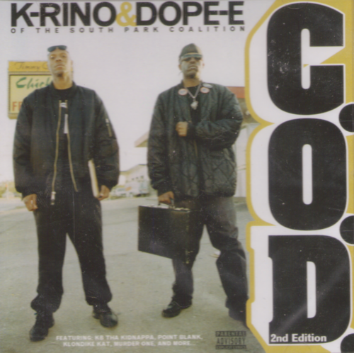 "K-RINO & DOPE-E ""C.O.D. 2ND EDITION"" (NEW CD)"