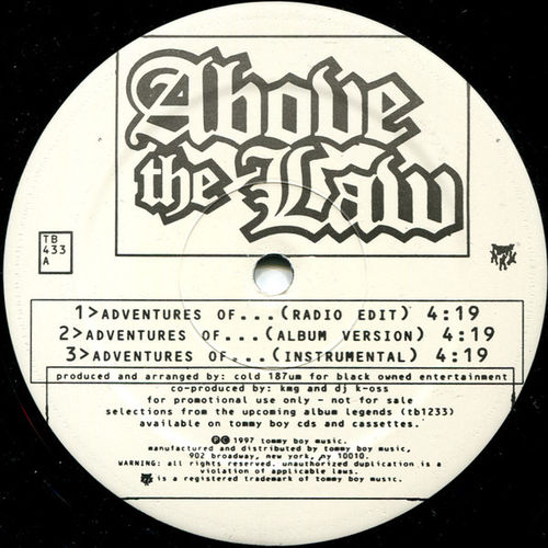 "ABOVE THE LAW ""ADVENTURES OF... / X.O. / CLINIC NIGGAZ"" (12'')"