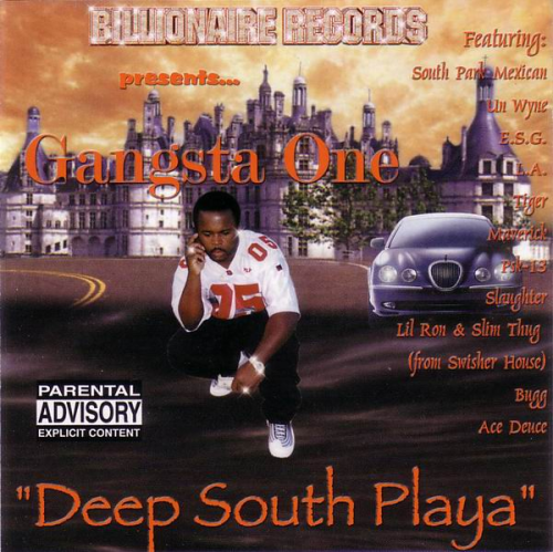 "GANGSTA ONE ""DEEP SOUTH PLAYA"" (USED CD)"