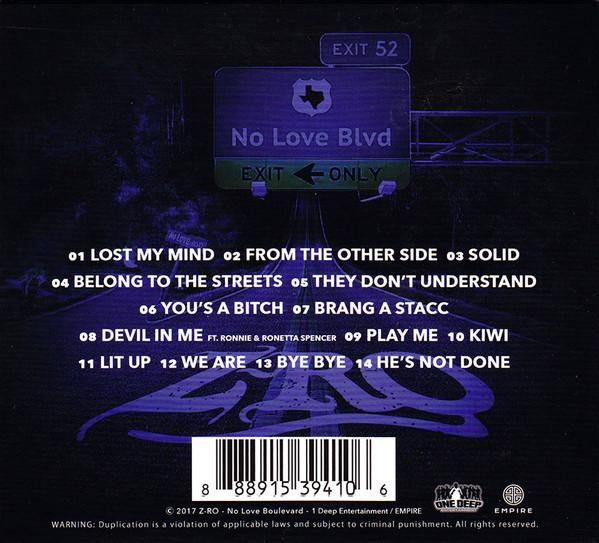 rapmazon com z ro no love boulevard new cd