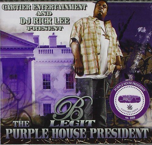 "B-LEGIT & RICK LEE ""THE PURPLE HOUSE PRESIDENT"" (NEW CD+DVD)"